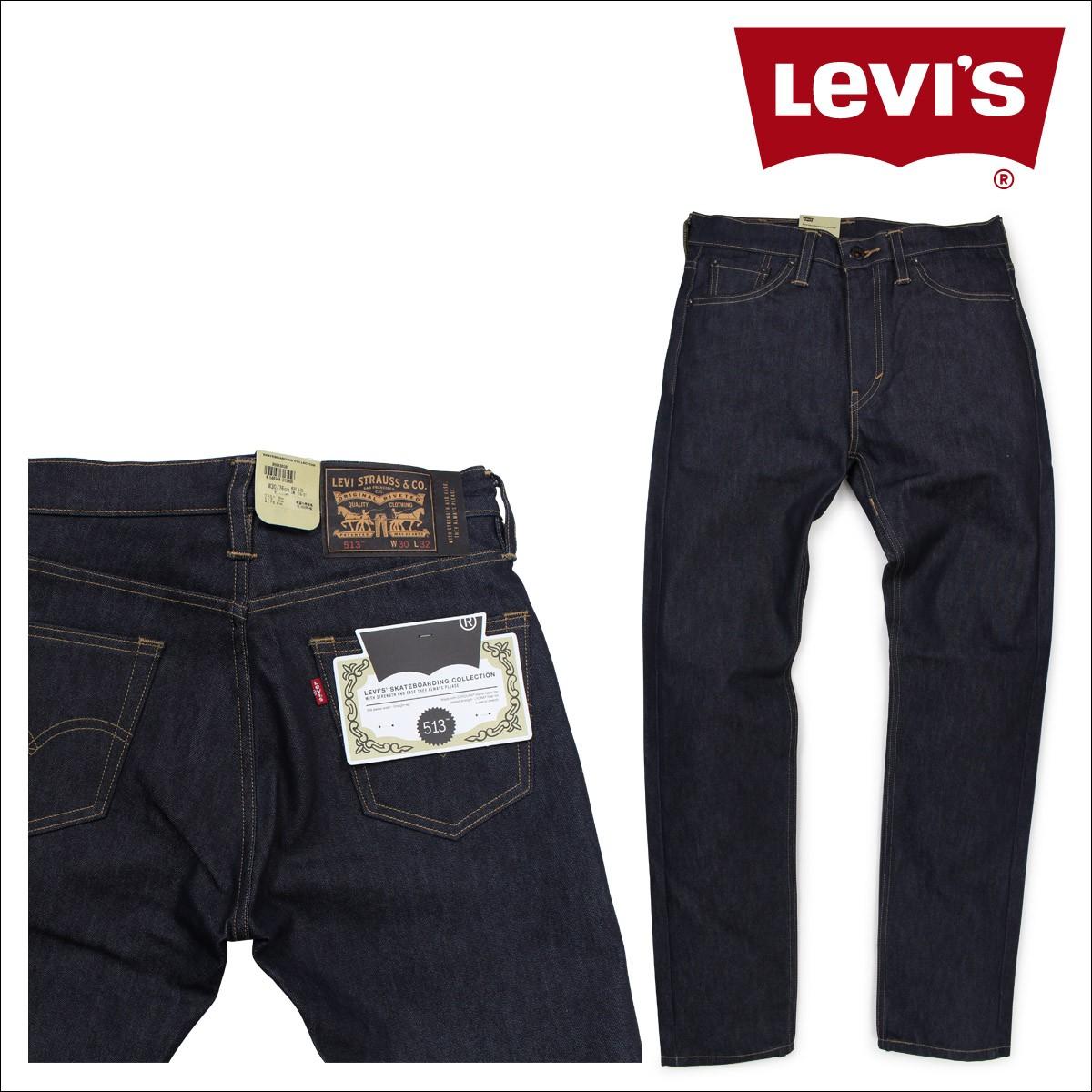リーバイス 513 LEVI'S スリム ストレート スケートボーディング メンズ デニム パンツ SLIM STRAIGHT FIT 95583-0001 [1/10 新入荷]