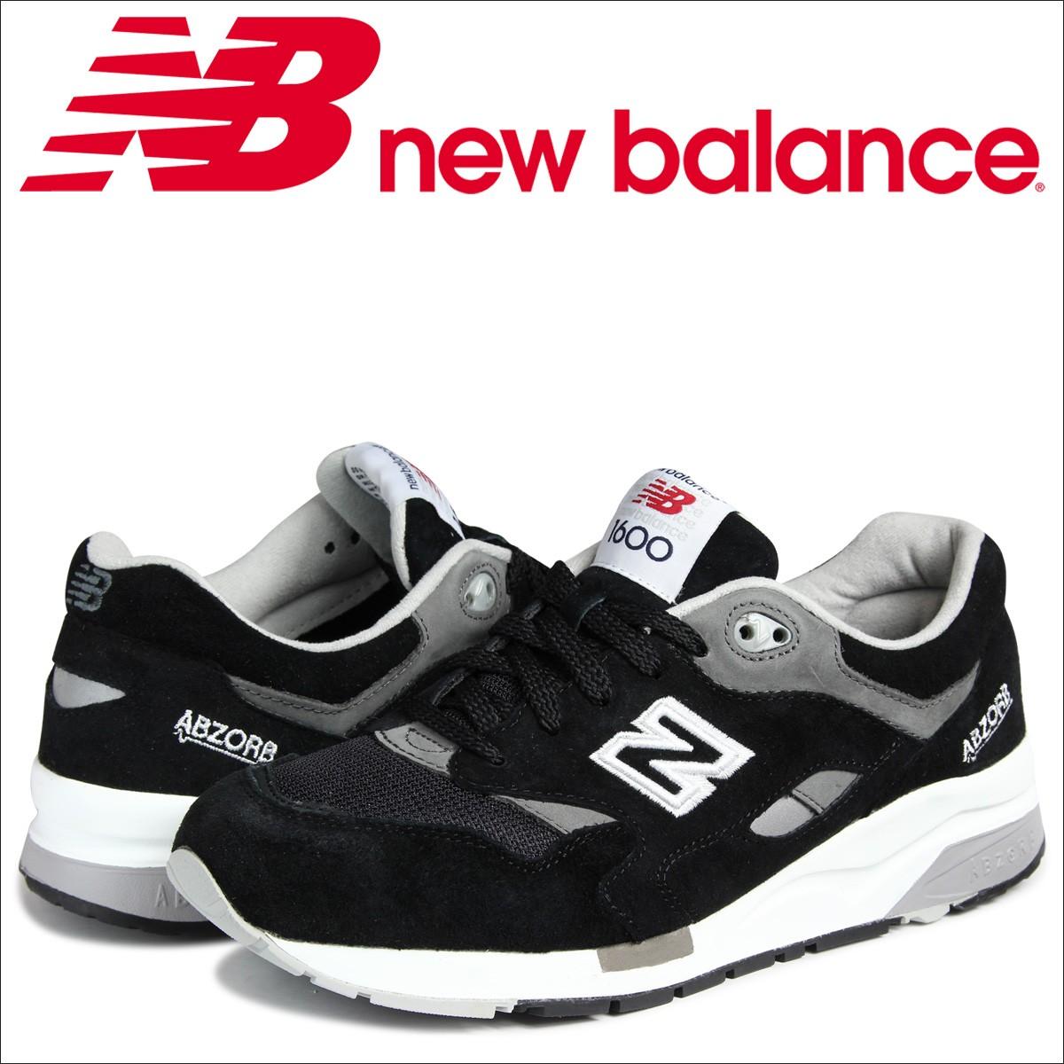 ニューバランス 1600 メンズ new balance スニーカー CM1600BK Dワイズ 靴 ブラック