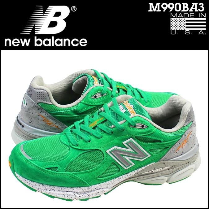 ニューバランス 990 メンズ new balance スニーカー M990BA3 Dワイズ MADE IN USA 靴 グリーン 【CLEARANCE】【返品不可】