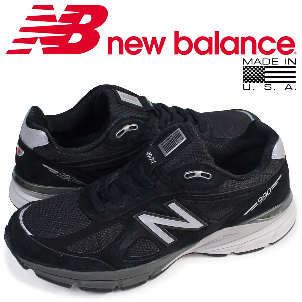 ニューバランス 990 メンズ new balance スニーカー M990BK4 Dワイズ MADE IN USA 靴 ブラック