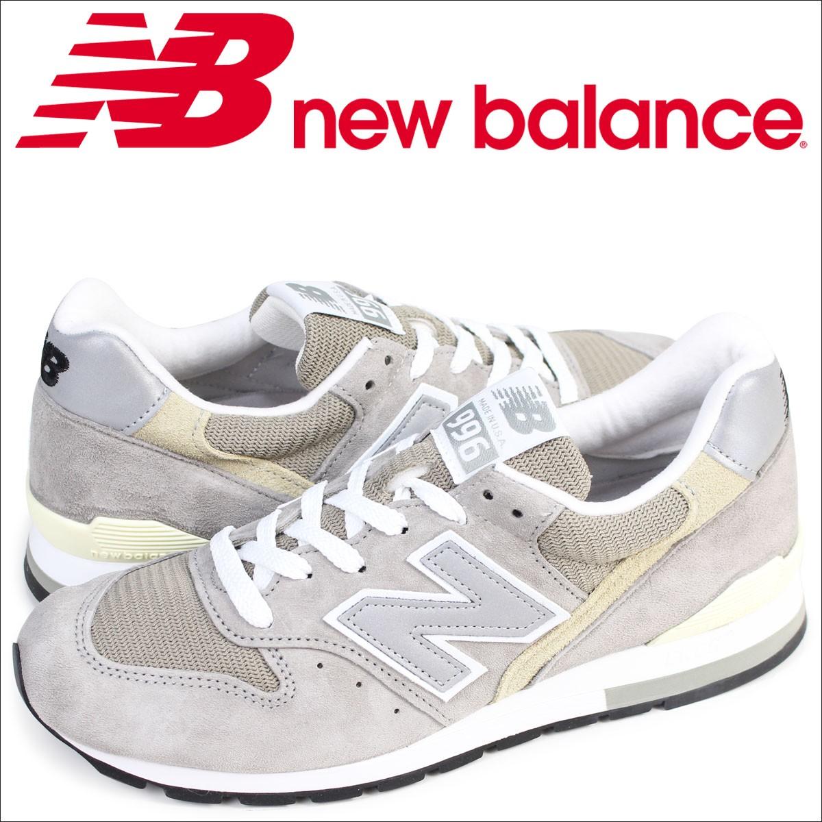 ニューバランス 996 メンズ new balance スニーカー M996 GY Dワイズ MADE IN USA 靴 グレー [1/20 追加入荷]