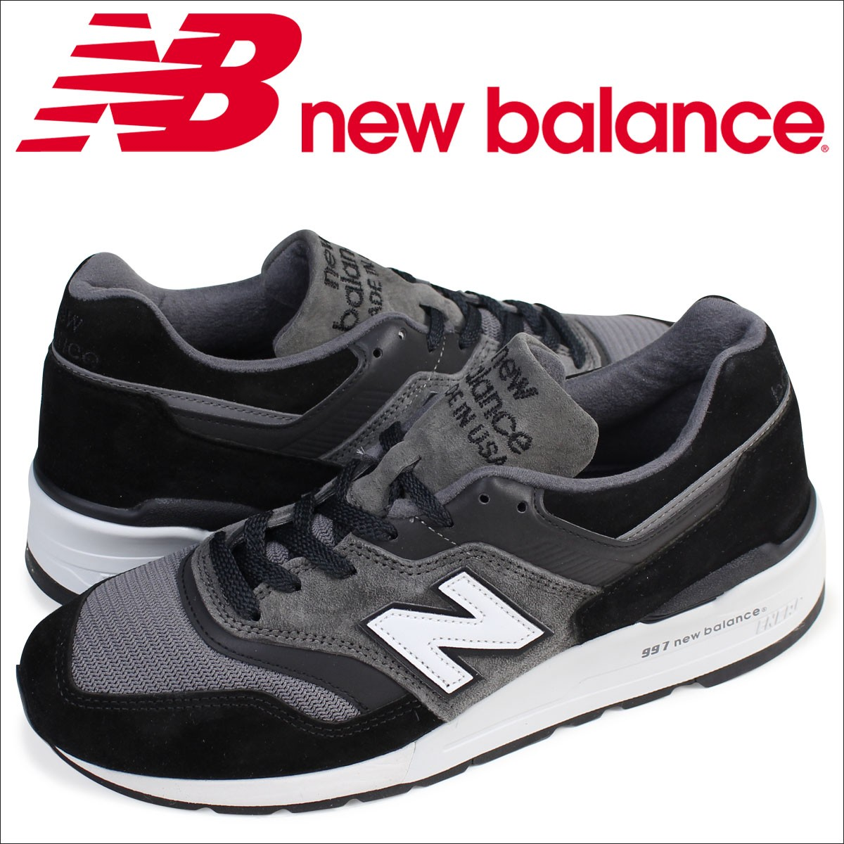 ニューバランス 997 メンズ new balance スニーカー M997CUR Dワイズ 靴 ブラック