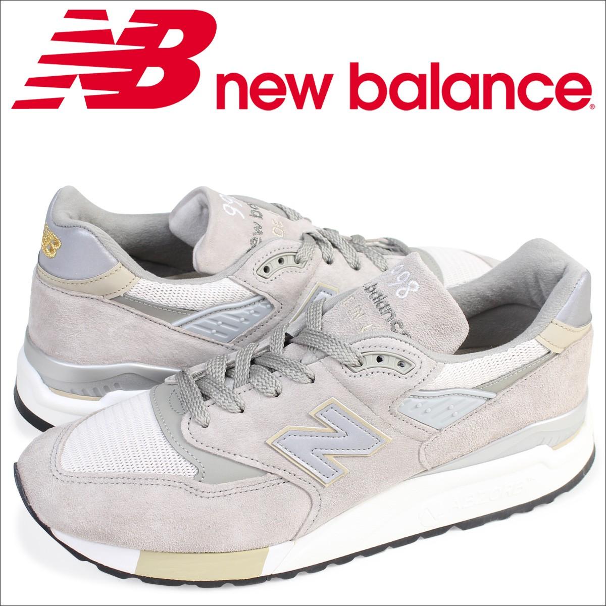 ニューバランス 998 メンズnew balance スニーカー M998CEL Dワイズ 靴 グレー