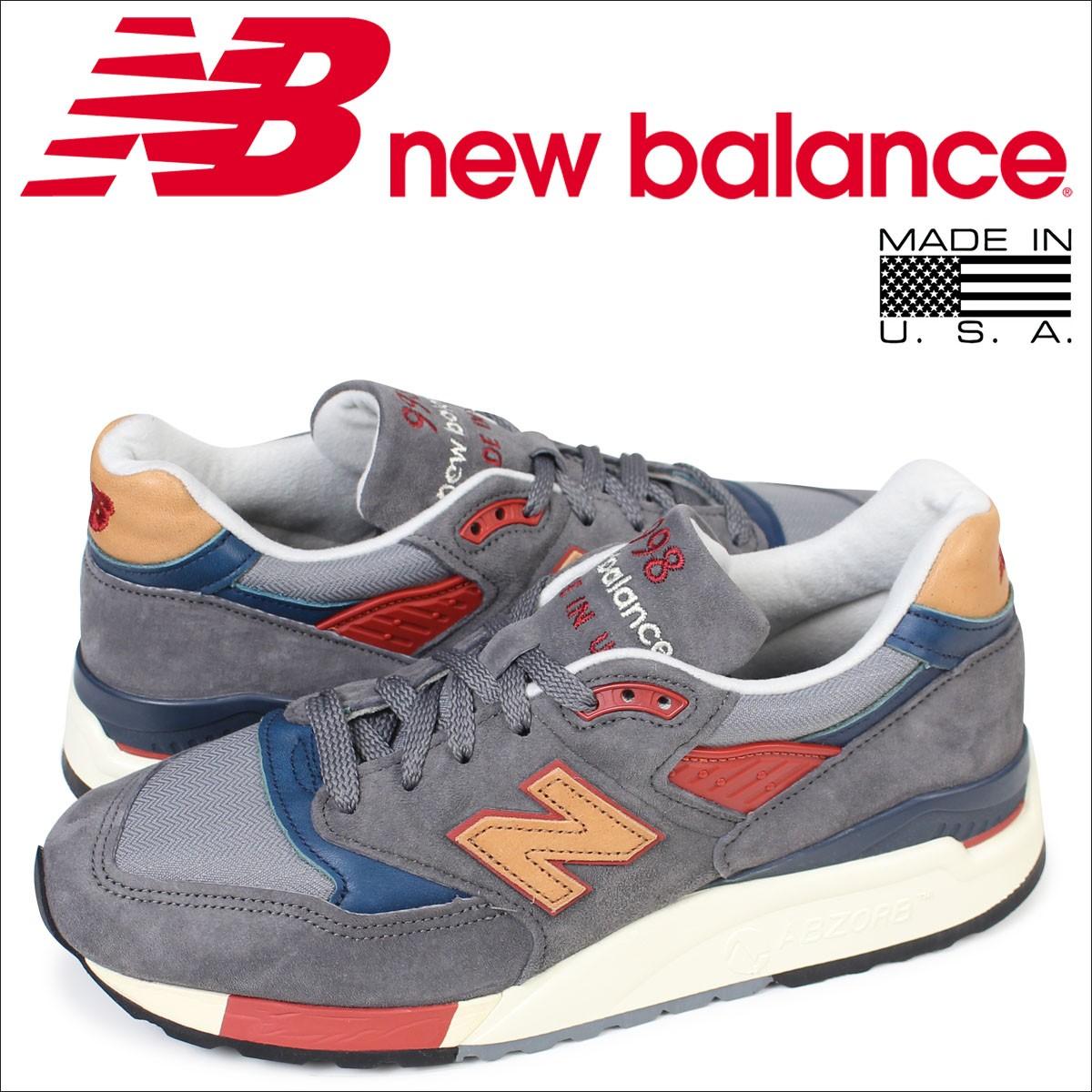 ニューバランス 998 メンズ new balance スニーカー M998DBR Dワイズ MADE IN USA 靴 グレー