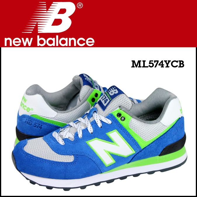 ニューバランス 574 メンズ new balance スニーカー ML574YCB Dワイズ 靴 ブルー 【CLEARANCE】【返品不可】
