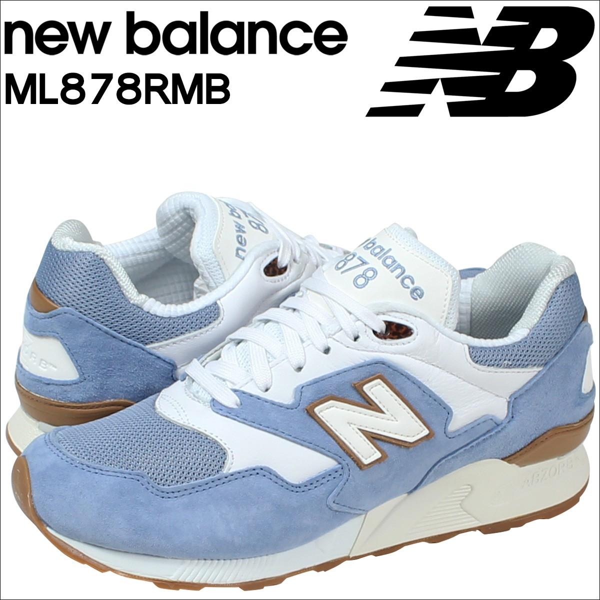 ニューバランス 878 メンズ new balance スニーカー ML878RMB Dワイズ 靴 ブルー 【CLEARANCE】【返品不可】