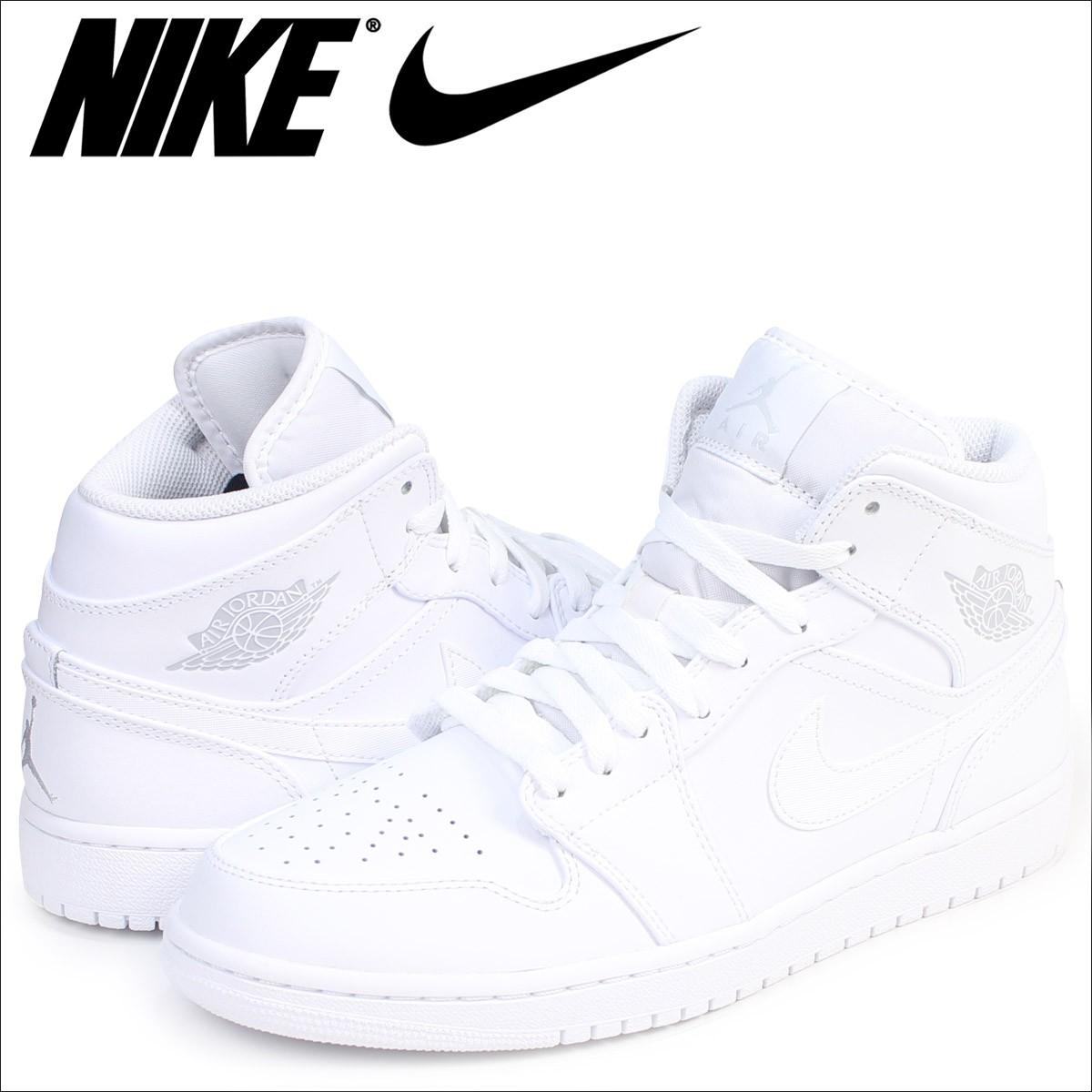 ナイキ NIKE エアジョーダン1 スニーカー AIR JORDAN 1 MID 554724-104 メンズ 靴 ホワイト [8/21 ...