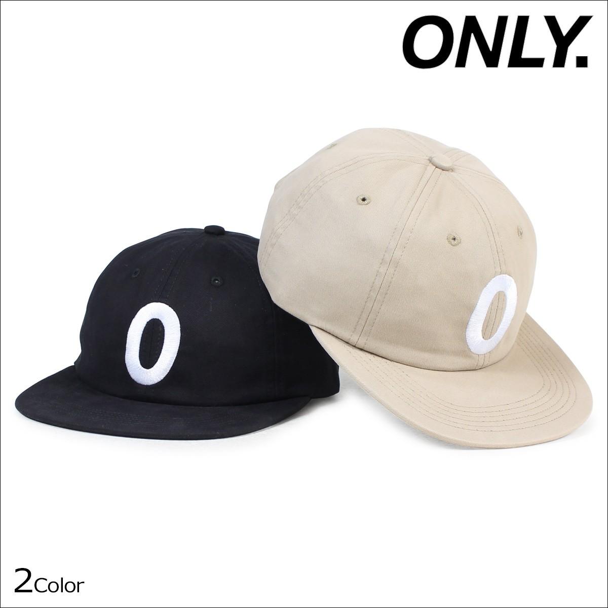 ONLY NY オンリーニューヨーク キャップ 帽子 メンズ レディース DERBY POLO HAT ストラップバック コットン ブラック カーキ [12/22 新入荷]