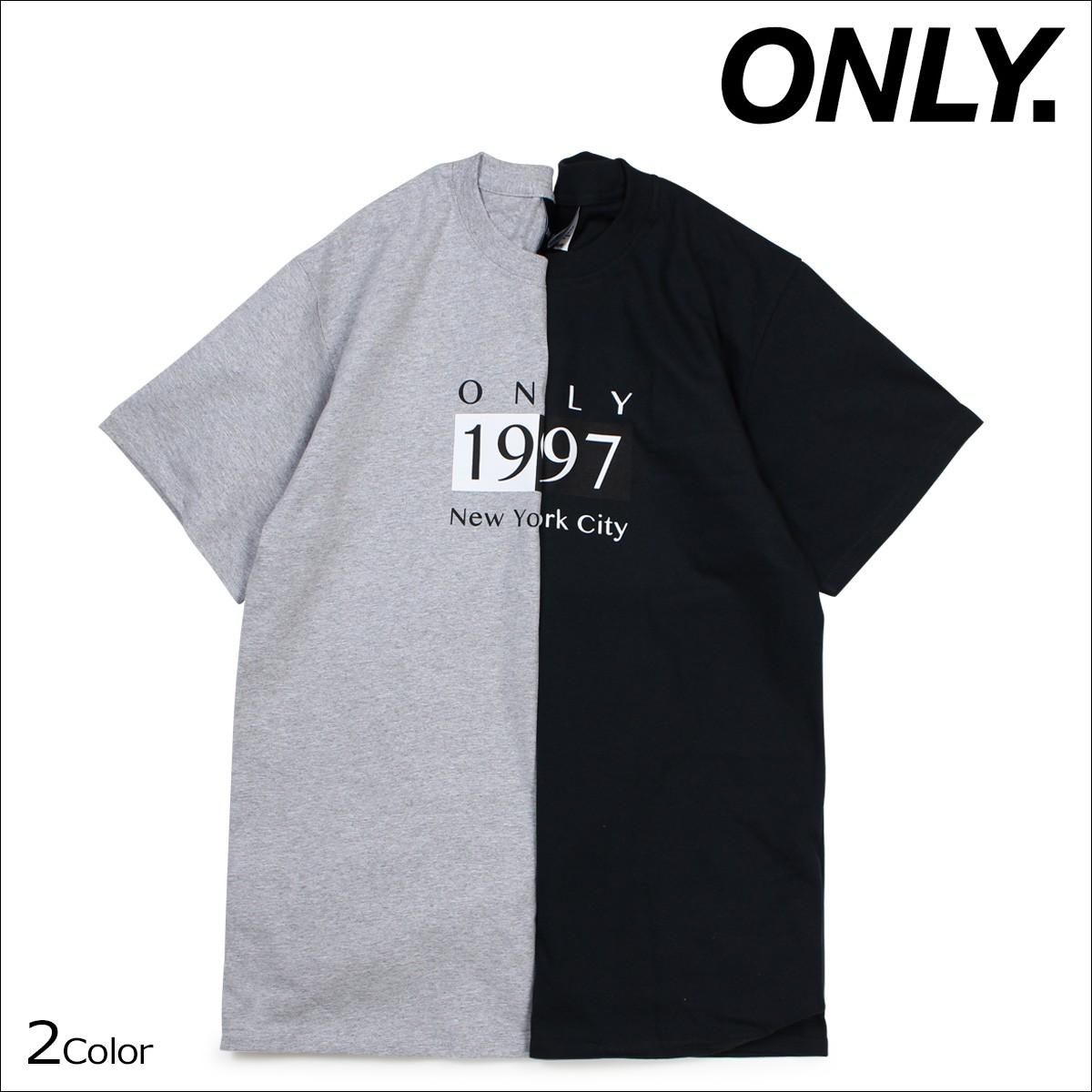 ONLY NY オンリーニューヨーク Tシャツ メンズ 半袖 DECO T-SHIRT ティーシャツ コットン ブラック グレー [12/22 新入荷]