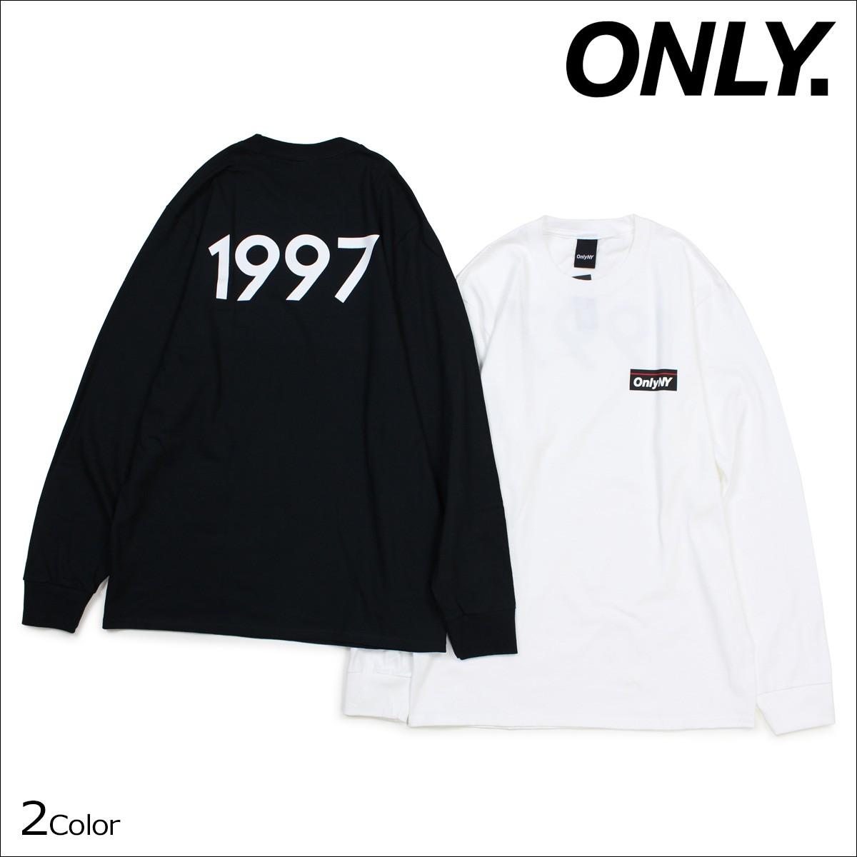 ONLY NY オンリーニューヨーク Tシャツ メンズ 長袖 カットソー SUBWAY L/S T-SHIRT ロンティー ロンT コットン ブラック ホワイト [12/22 新入荷]
