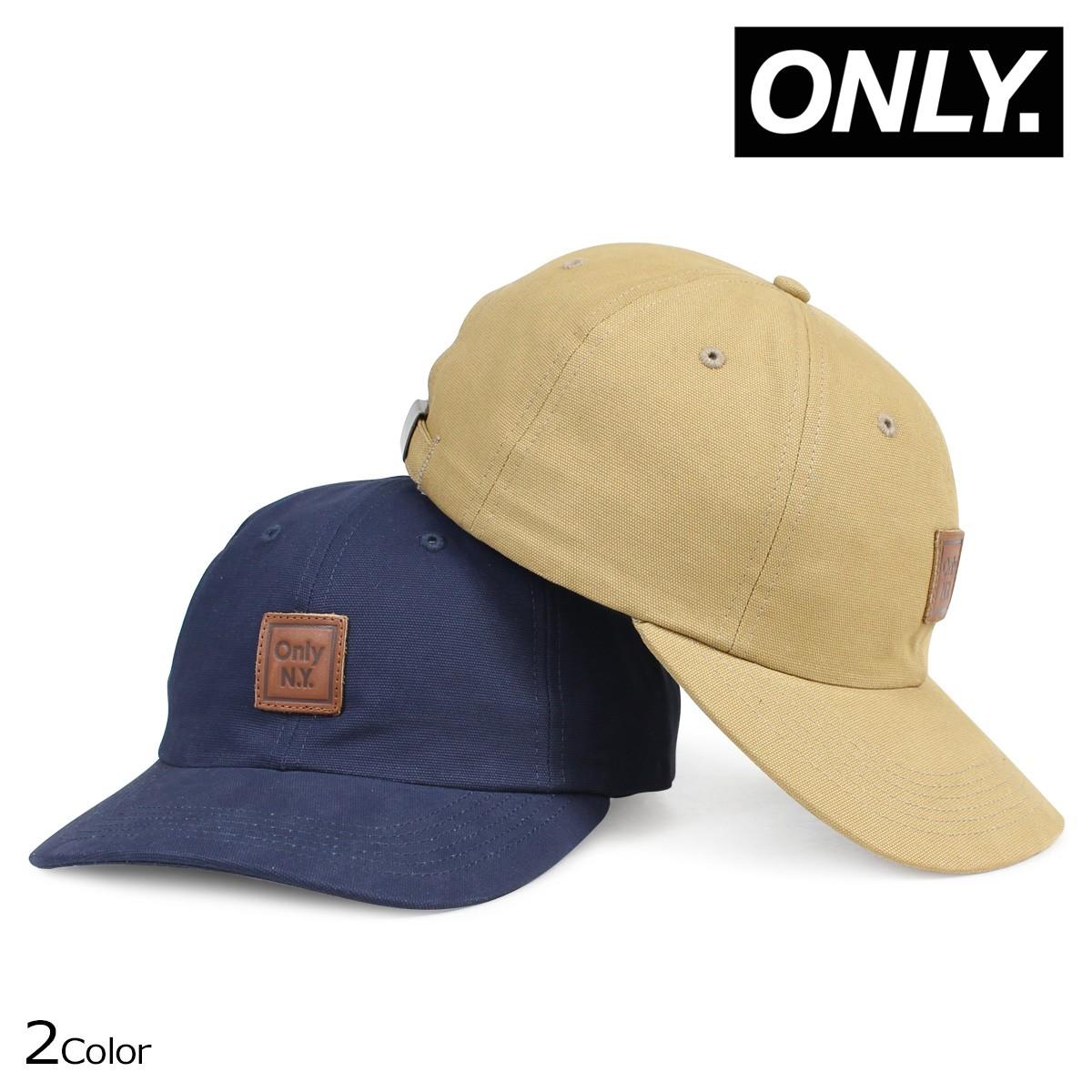 ONLY NY オンリーニューヨーク キャップ 帽子 メンズ レディース CUBE POLO HAT ネイビー ベージュ [1/19 新入荷]