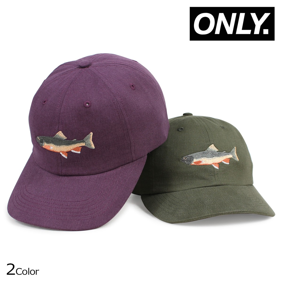 ONLY NY オンリーニューヨーク キャップ 帽子 メンズ レディース BROOK TROUT POLO HAT オリーブ パープル [1/19 新入荷]