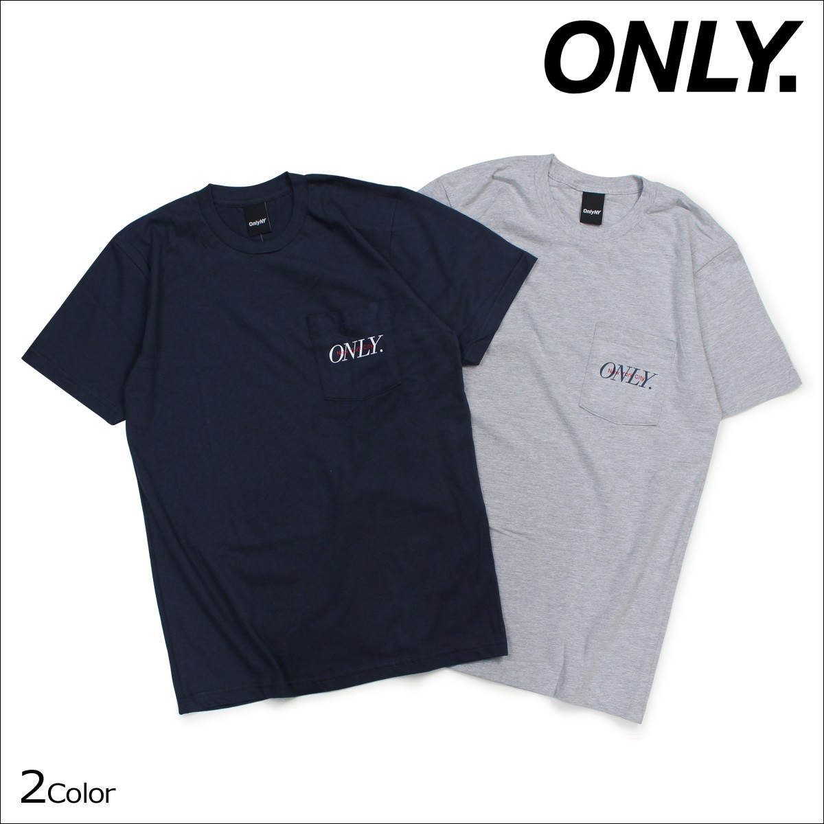ONLY NY オンリーニューヨーク Tシャツ メンズ 半袖 トップス クルーネック MIDTOWN POCKET T-SHIRT 2カラー