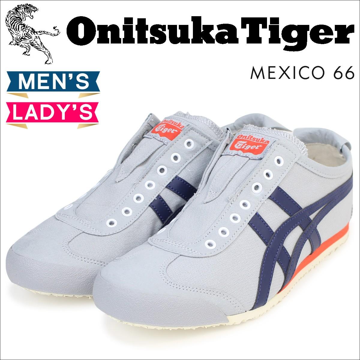 オニツカタイガー メキシコ66 スリッポン Onitsuka Tiger メンズ レディース スニーカー MEXICO 66 SLIP ON D3K0N 9649 靴 グレー [3/7 新入荷]