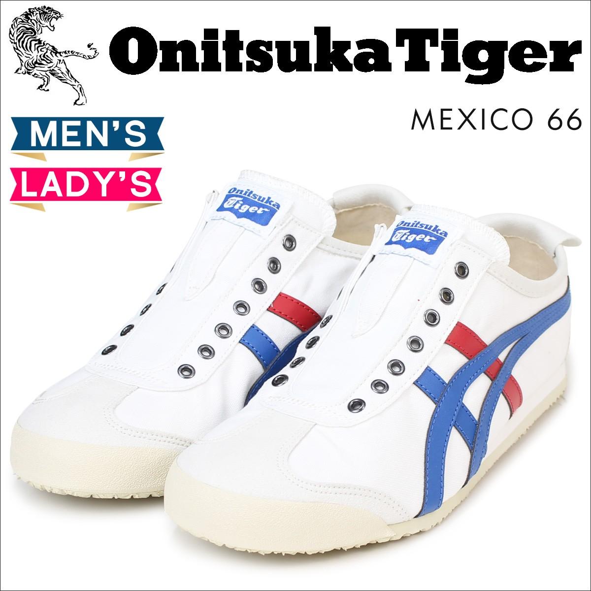 オニツカタイガー メキシコ66 スリッポン Onitsuka Tiger メンズ レディース スニーカー MEXICO66 SLIP ON D3KON 0143 靴 ホワイト [3/7 再入荷]