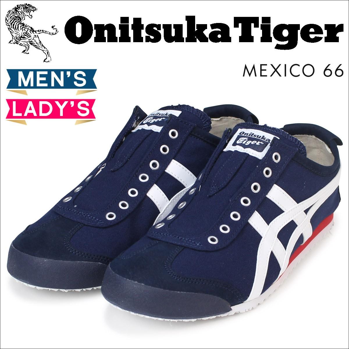 オニツカタイガー メキシコ66 スリッポン Onitsuka Tiger メンズ レディース スニーカー MEXICO 66 SLIP ON D3K0N 5099 靴 ネイビー [3/7 再入荷]