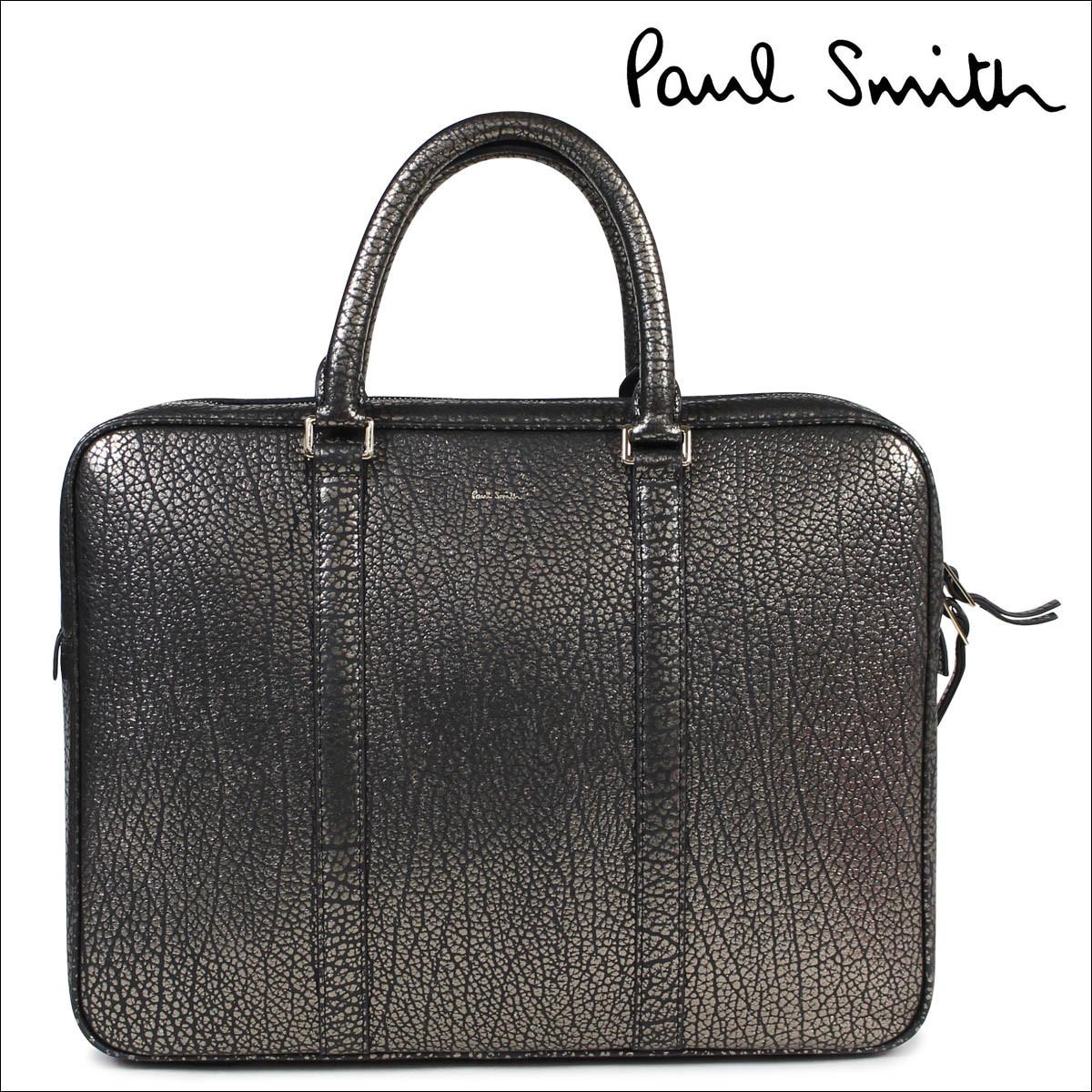 ポールスミス バッグ メンズ Paul Smith ビジネスバッグ 本革 レザー ゴールド 4621