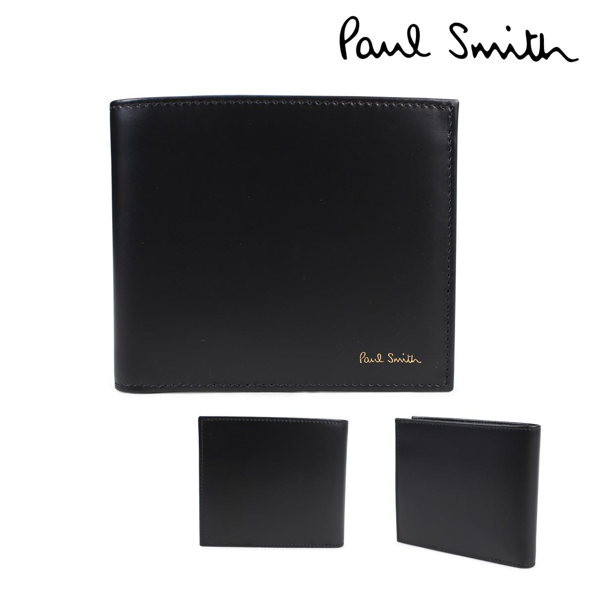 ポールスミス 財布 メンズ 二つ折り Paul Smith SMART WALLET レザー ブラック 4833 W761A 79 [1/23 新入荷]