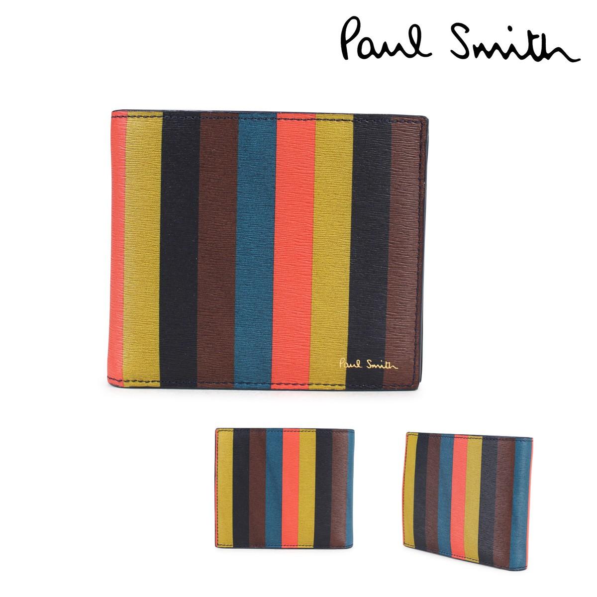 ポールスミス 財布 メンズ 二つ折り Paul Smith SMART WALLET レザー マルチカラー 4833 W785A 96 [1/23 新入荷]