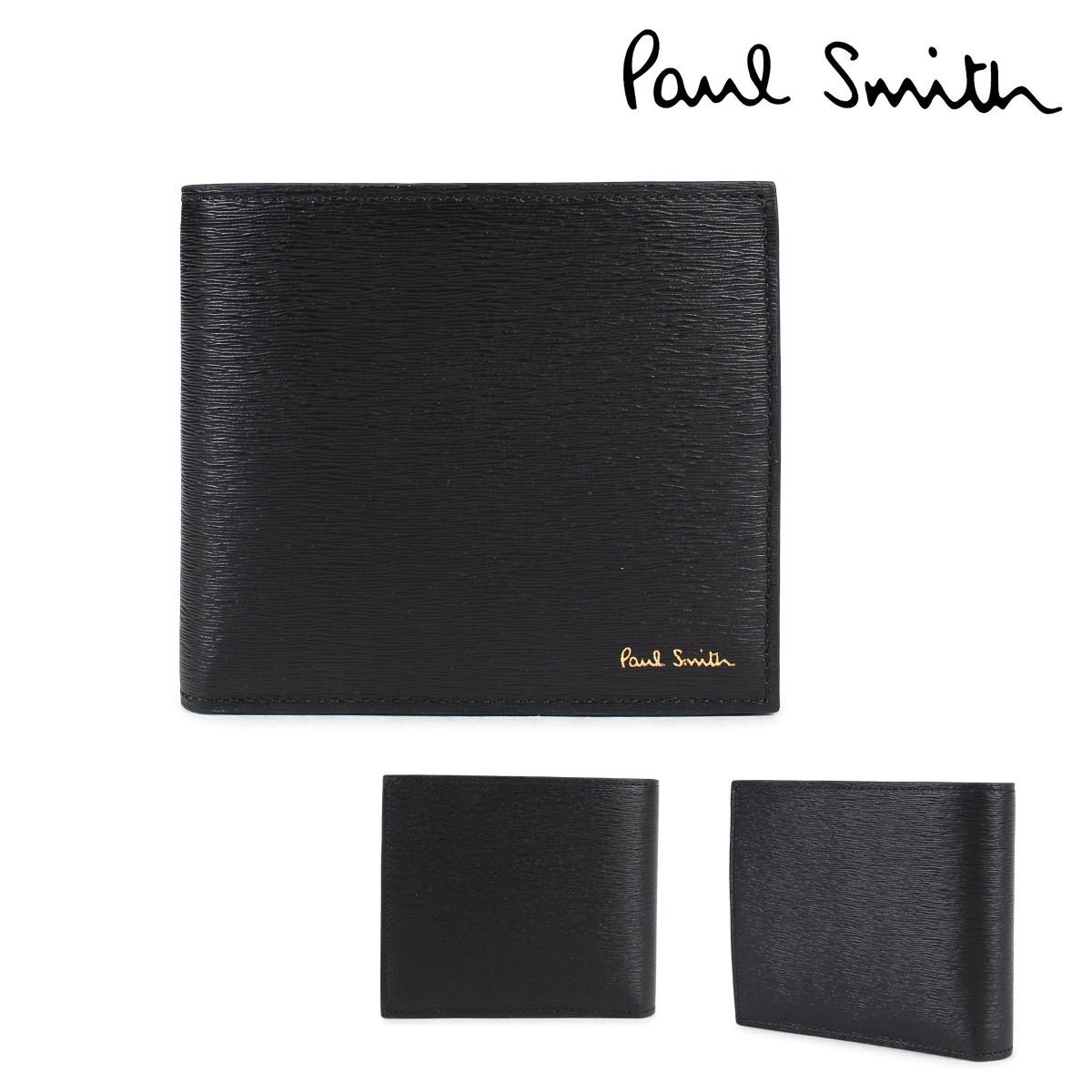 ポールスミス 財布 メンズ 二つ折り Paul Smith SMART WALLET レザー ブラック 4833 W905 79 [1/23 新入荷]