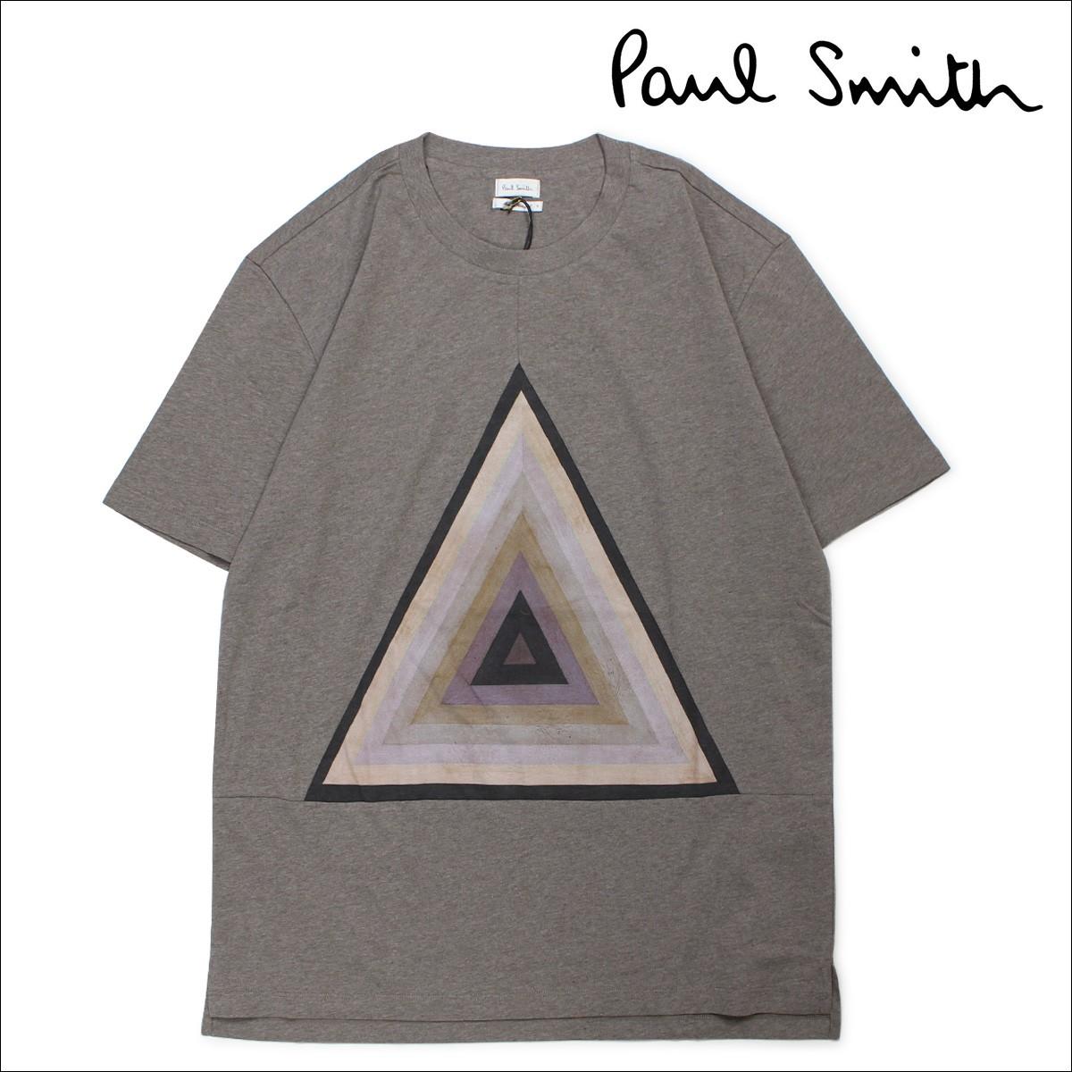 ポールスミス Tシャツ メンズ Paul Smith 半袖 トップス カットソー クルーネック GENT SREW NECK T SHIRT PNPC 445P 171 グレー