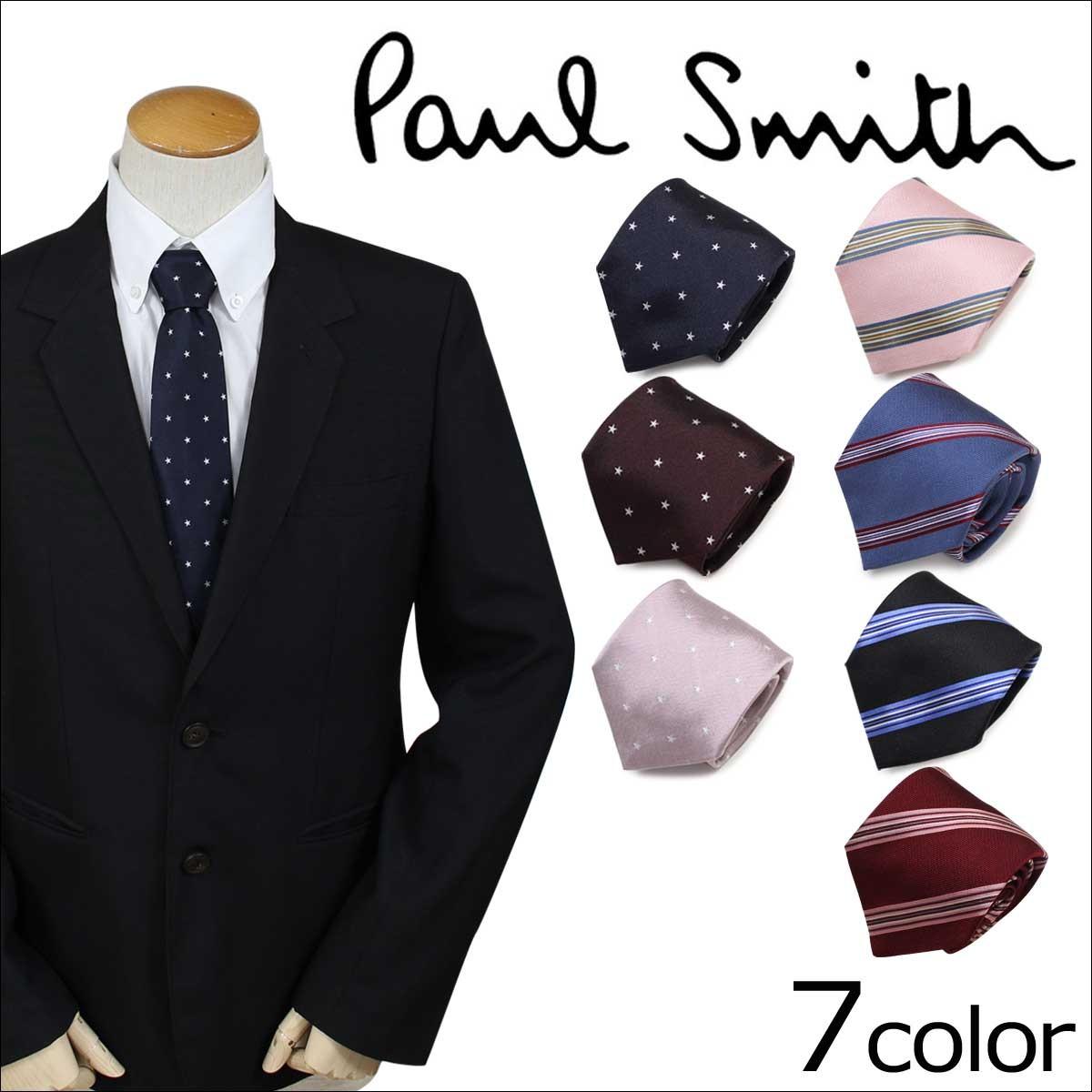 ポールスミス ネクタイ シルク メンズ Paul Smith ドット ストライプ ギフト ケース付 イタリア製 ビジネス 結婚式 [12/27 追加入荷]