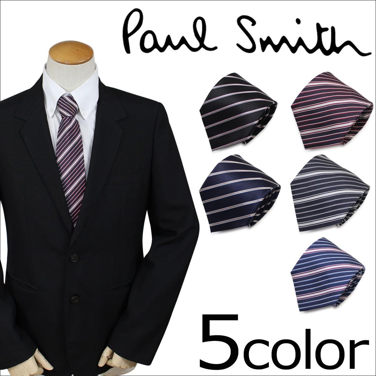 ポールスミス ネクタイ シルク メンズ Paul Smith スタライプ ギフト ケース付 イタリア製 ビジネス 結婚式 [1/25 追加入荷]