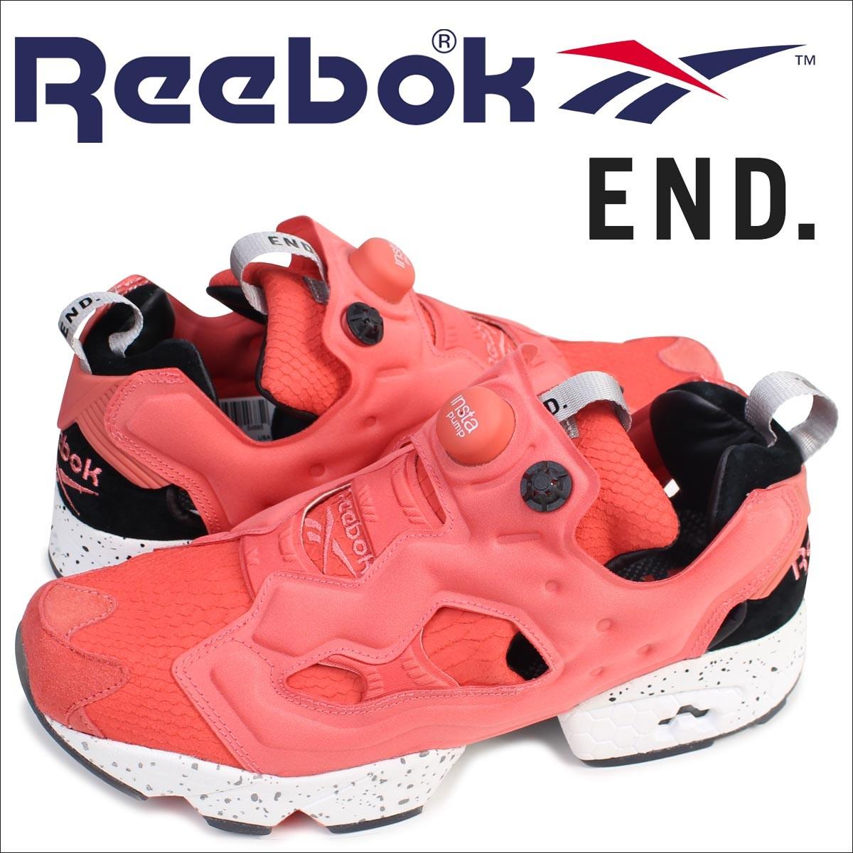 リーボック ポンプフューリー スニーカー Reebok END INSTAPUMP FURY OG PINK SALMON BD3346 メンズ エンド コラボ 靴 サーモンピンク
