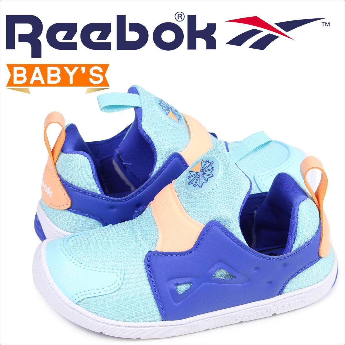 リーボック ベンチャーフレックス ベビー スニーカー スリッポン Reebok VENTURE FLEX 2.0 CM9145 ブルー [1/13 新入荷]