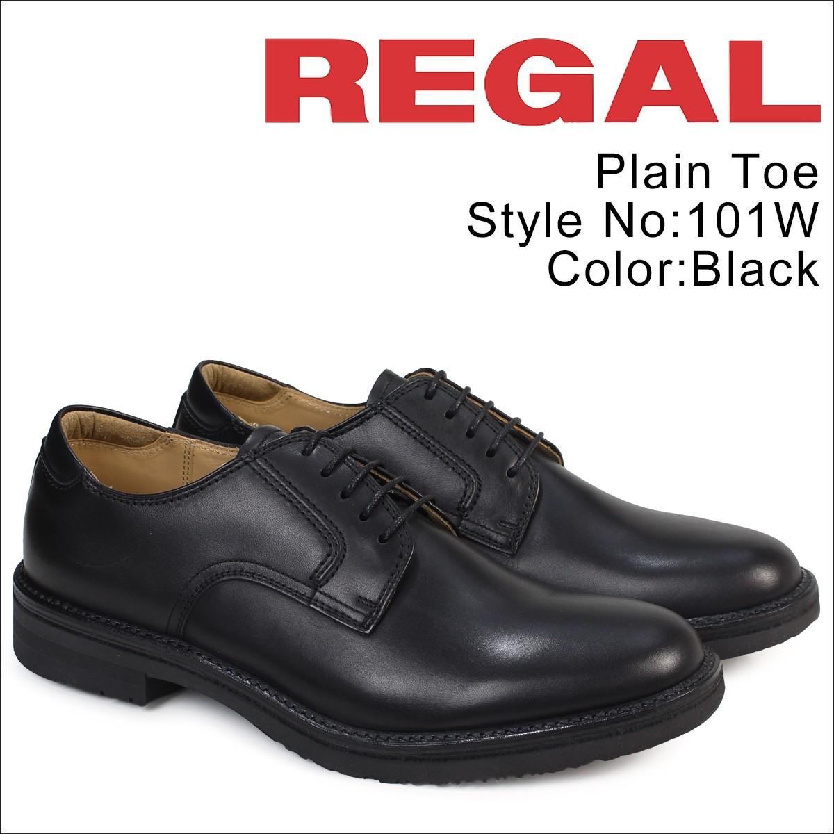 リーガル 靴 メンズ REGAL プレーントゥ 101W AH ビジネスシューズ 日本製 ブラック [12/21 追加入荷]