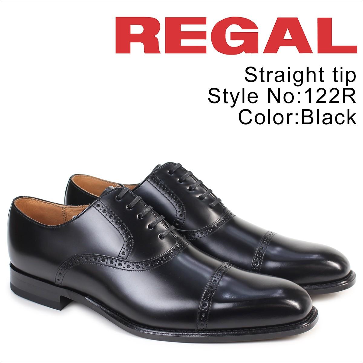 リーガル 靴 メンズ REGAL ストレートチップ 122RAL ビジネスシューズ 日本製 ブラック [1/13 追加入荷]