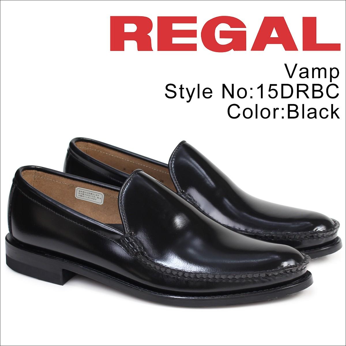 リーガル 靴 メンズ REGAL ヴァンプ スリッポン 15DRBC ビジネスシューズ ブラック [1/13 追加入荷]