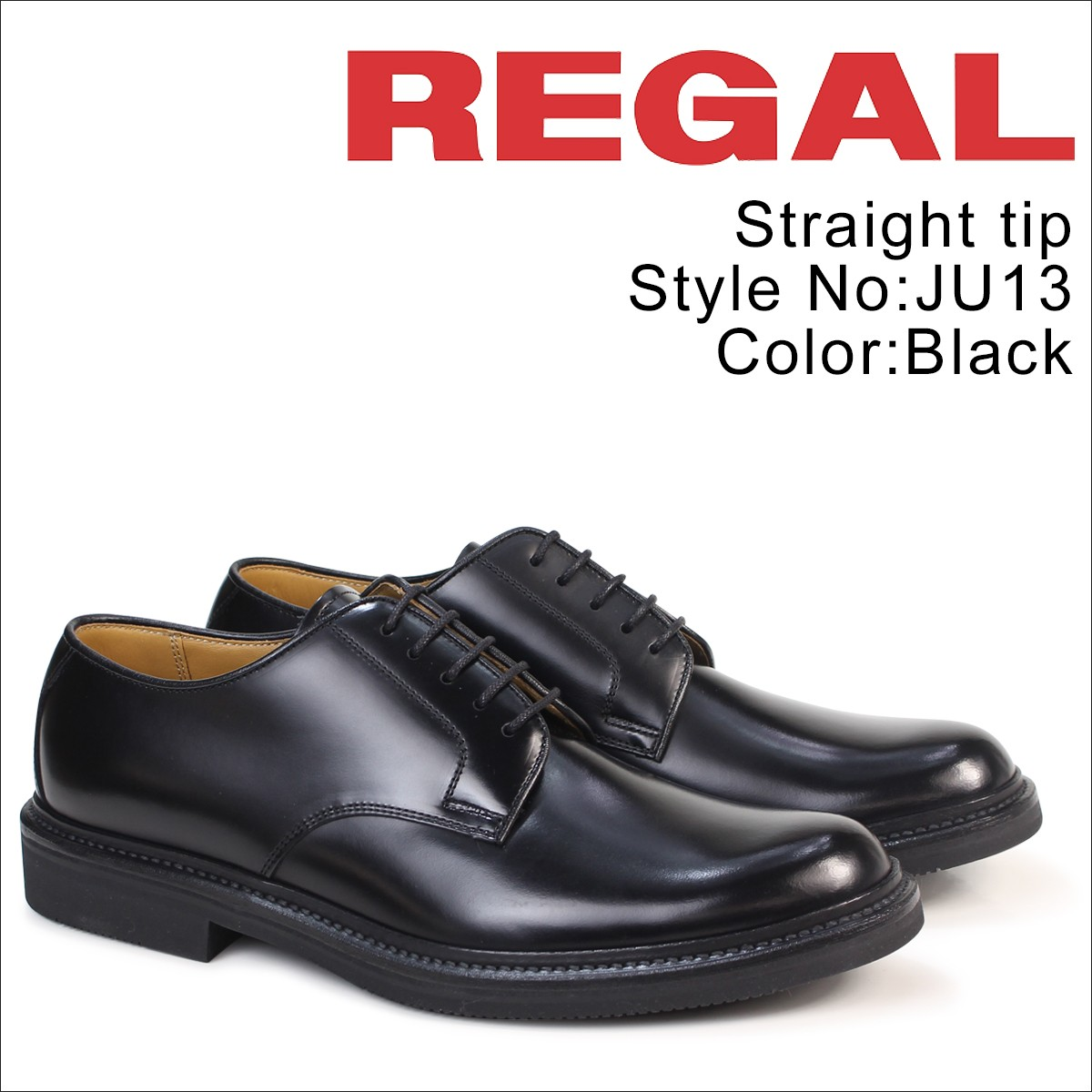 リーガル 靴 メンズ ビジネスシューズ REGAL プレーントゥ JU13 JG ブラック [4/19 追加入荷]