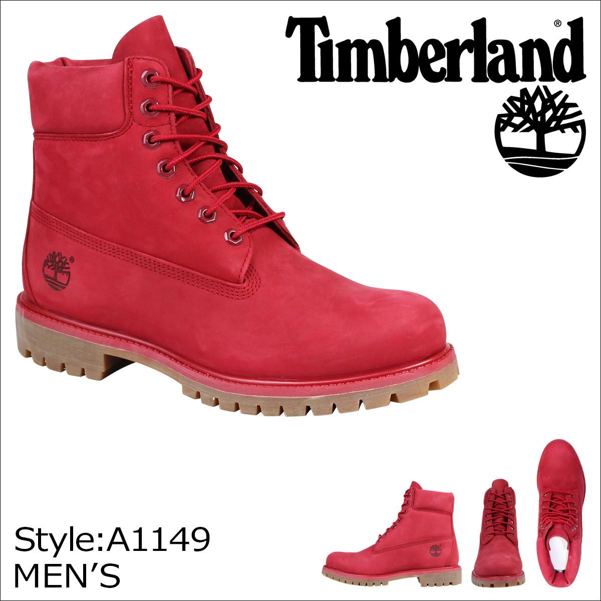 ティンバーランド 6インチ メンズ Timberland ブーツ プレミアム 6-INCH REMIUM WATERPROOF BOOTS A1149 Wワイズ 防水 レッド [8/10 追加入荷]