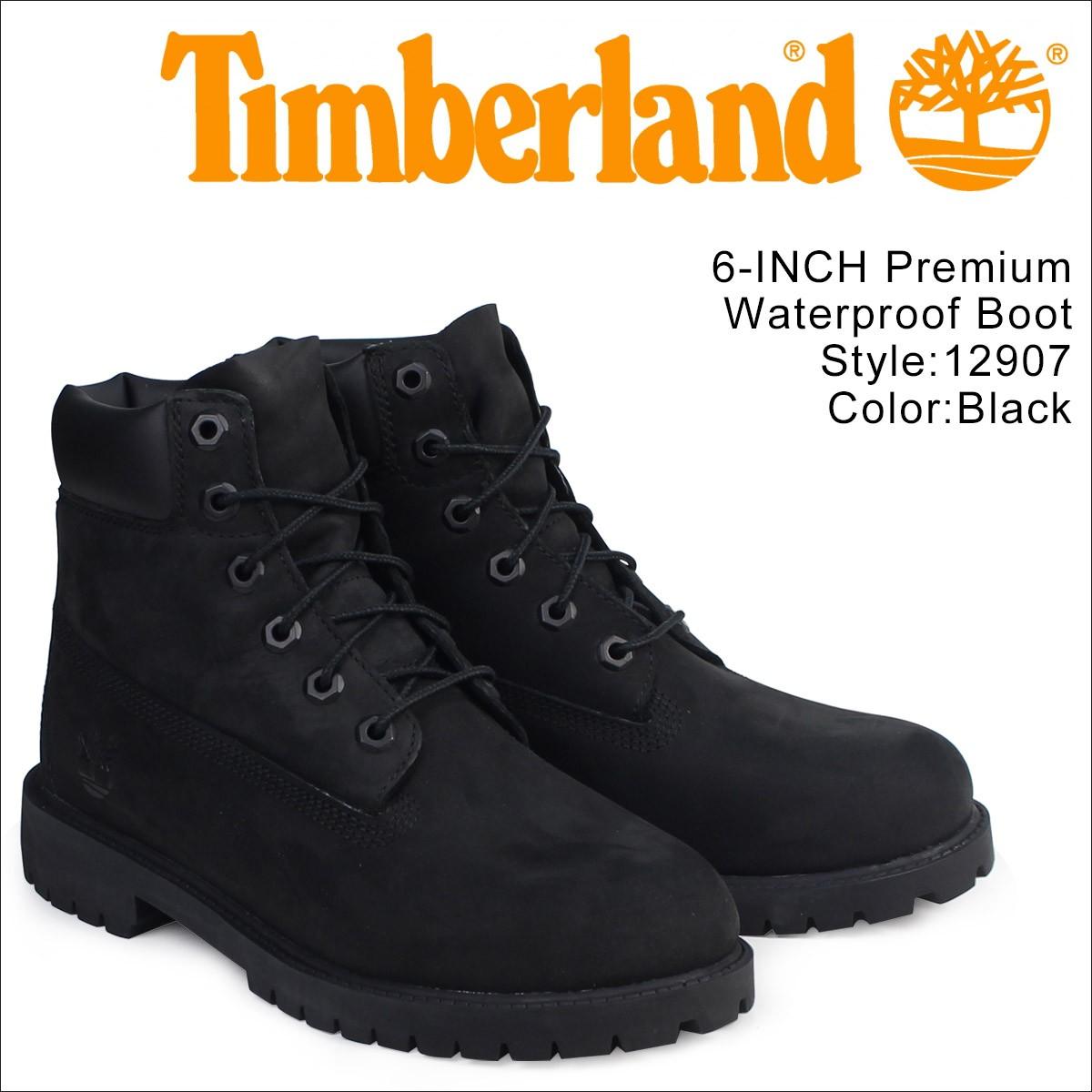 ティンバーランド Timberland レディース 6INCH WATERPROOF BOOTS ブーツ 6インチ プレミアム ウォータープルーフ ブーツ 12907 ブラック [8/10 再入荷]