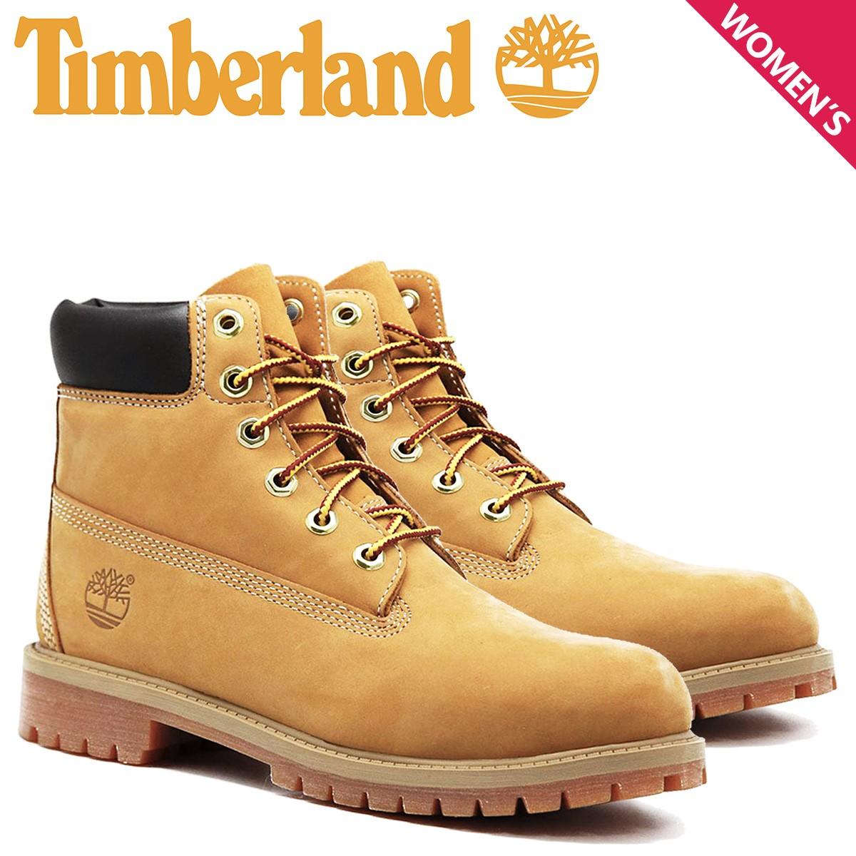 ティンバーランド レディース ブーツ 6インチ Timberland JUNIOR 6INCH PREMIUM WATERPROOF BOOTS 12909 プレミアム ウォータープルーフ [12/25 追加入荷]