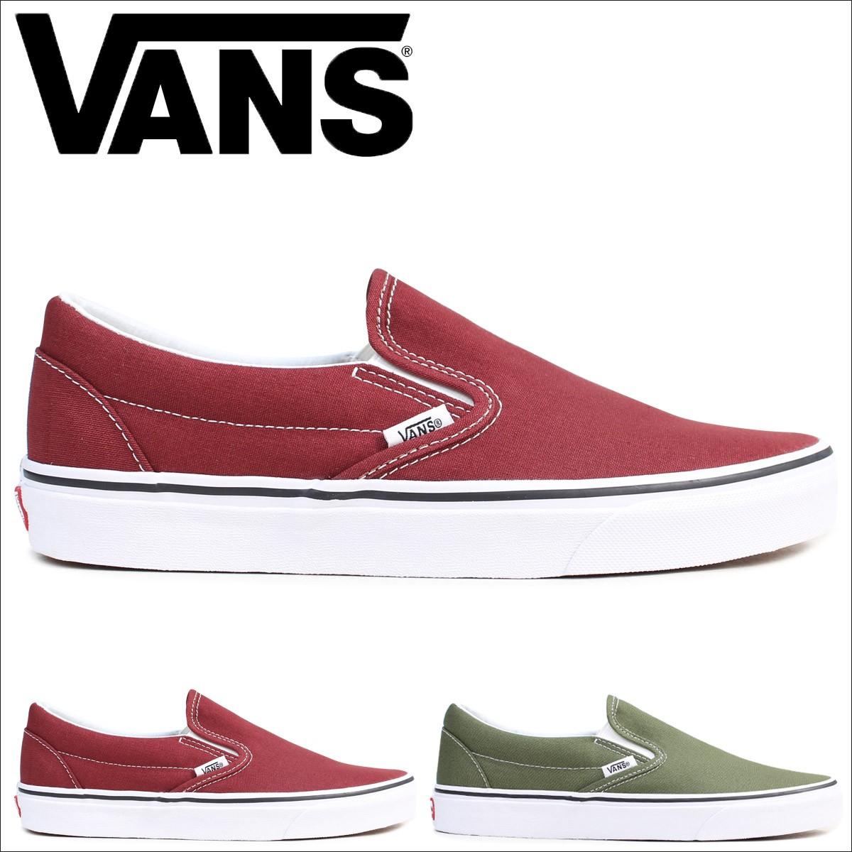 VANS スリッポン メンズ スニーカー バンズ ヴァンズ CLASSIC SLIP-ON VN0A38F7OVK VN0A38F7OW2 靴 ブラウン グリーン [12/19 追加入荷]