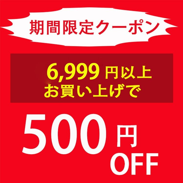 6999円以上のお買い上げで500円OFF!!