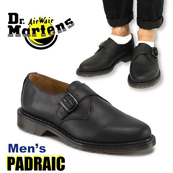 ドクターマーチン Dr.Martens モンクストラップ レザーシューズ PADRAIC サイドベルト ローファー ビジネス カジュアル ブラック メンズ (R16022001)