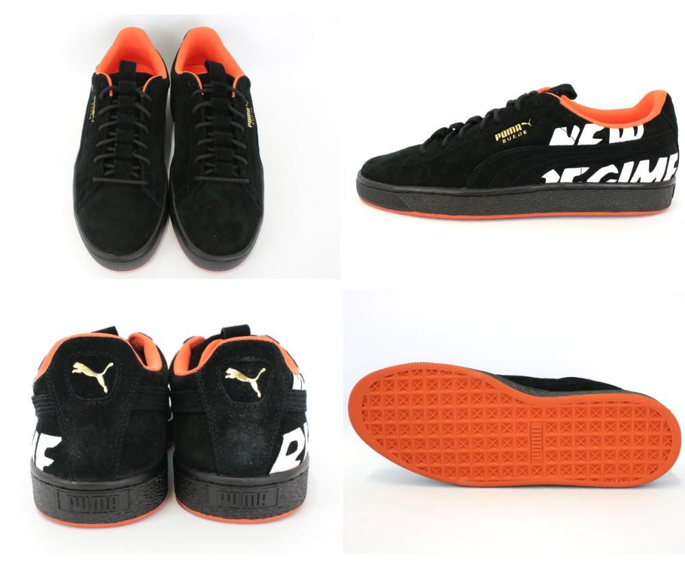 the best attitude ed28d 017d3 プーマ PUMA スニーカー スエード ANR SUEDE ATELIER NEW REGIMEコレクション コラボモデル ブラック オレンジ 靴  メンズ