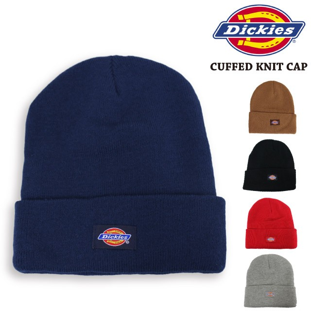 セール %OFF メール便 ディッキーズ Dickies CUFFED KNIT ロゴ付き ニットキャップ ワッチキャップ ニット帽 メンズ レディース ユニセックス (KC14)