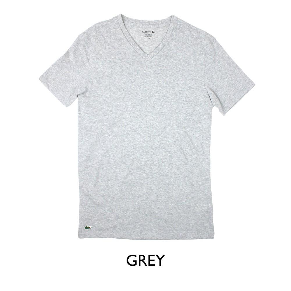 ラコステ LACOSTE メンズ MENS 半袖 Tシャツ ワニ ワンポイント Vネック コットン ブランド 大きいサイズ 男性用