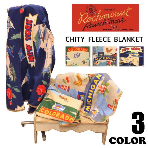 Rockmount ロックマウント フリース 大判ブランケット USA CHITY FLEECE BLANKET 膝掛け 毛布 ラグ メンズ レディース