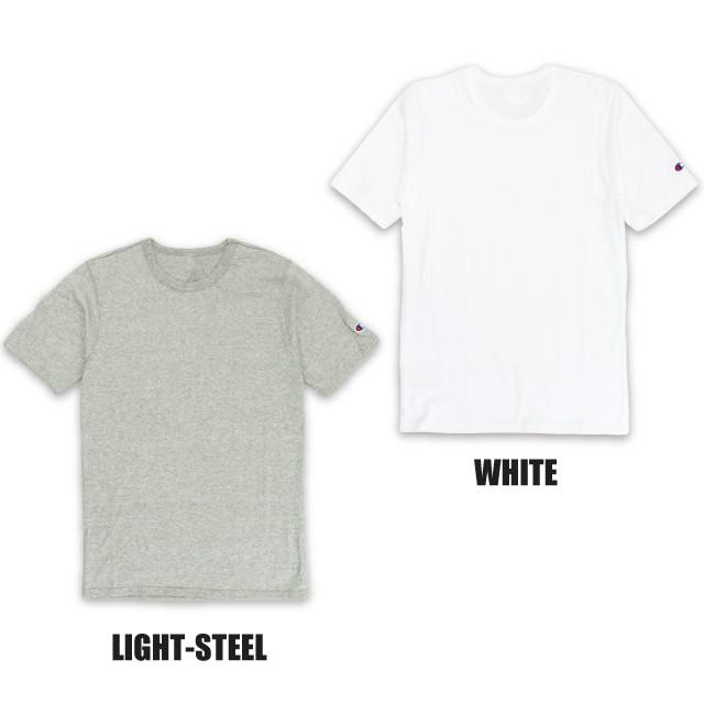 チャンピオン Champion クルーネック 半袖 Tシャツ 6.1oz Tagless T-Shirt 6.1オンス ティーシャツ 黒 白 Uネック 無地 トップス ワンポイント Cロゴ 刺繍 綿 USAモデル メンズ