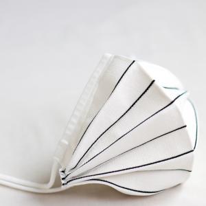 折りたたみタイプ ストライプマスク 銀 日本製 洗える  抗ウイルス スポーツマスク 息がらく 軽量 速乾 UVカット 耳ヒモ調整 調湿 立体 三次元 花粉 父の日|SocielニットブティックPayPayモール店