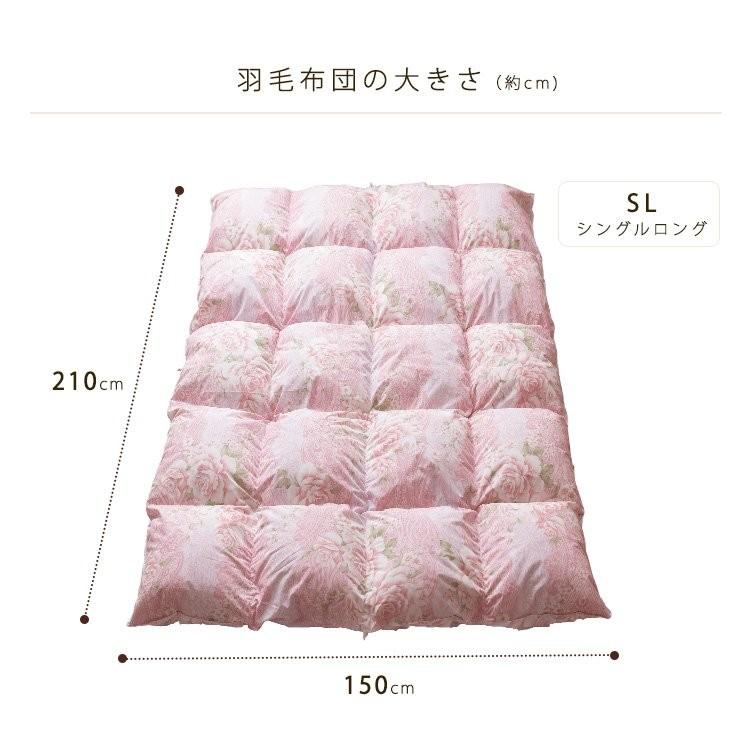 布団ふとん掛け布団掛布団シングルロング羽毛寝具冬WDD93%1.0kgSL