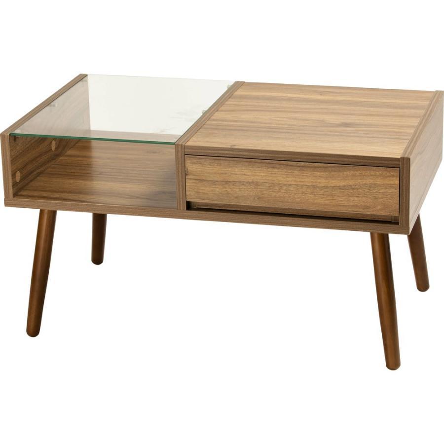 ローテーブル 引き出し 木製 収納 おしゃれ センターテーブル リビングテーブル ガラステーブル GLT-800|sofort|20