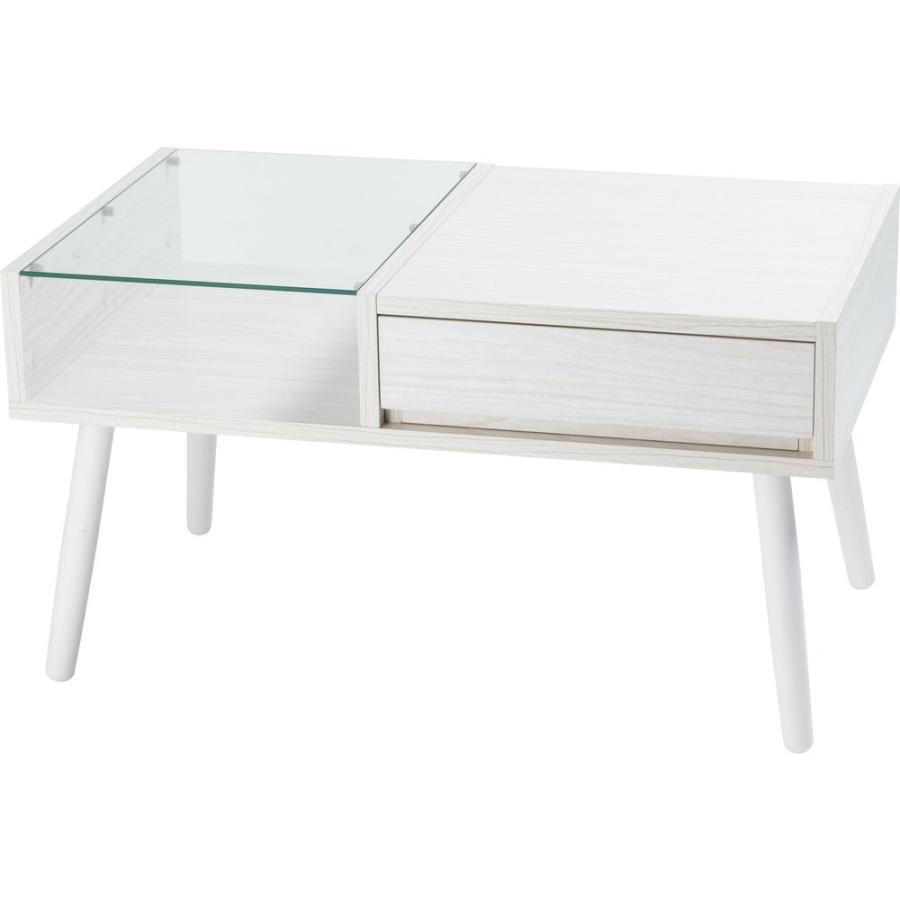 ローテーブル 引き出し 木製 収納 おしゃれ センターテーブル リビングテーブル ガラステーブル GLT-800|sofort|21