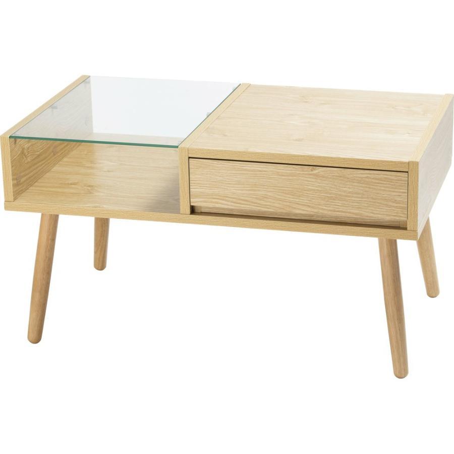 ローテーブル 引き出し 木製 収納 おしゃれ センターテーブル リビングテーブル ガラステーブル GLT-800|sofort|22