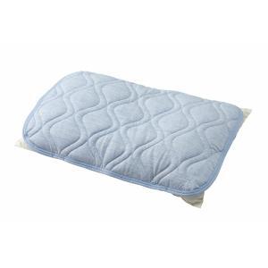枕パッド 夏 接触冷感 2枚セット 抗菌防臭 スーパークール枕パッド リバーシブル 2枚組 MXPP-4363-2P-BL クリアグローブ あすつく|sofort|03